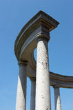Columns. Ancient city structure with columns Stock Images