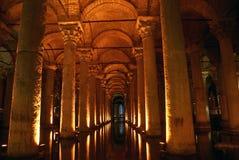 Columns. And arc in Yerebatan Saray in Istanbul Stock Photography