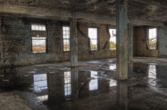 Columns in Abandoned Room royalty free stock photos