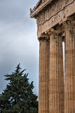 Columns of Acropolis. Columns of the ancient Acropolis. The eastern side of the Acropolis Stock Image