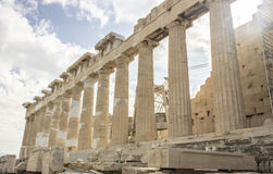 Columns of acropolis Stock Photography