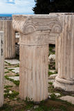 Columns at the Acropolis Stock Photography