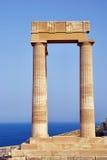 Columns on the acropolis Stock Photo
