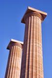 Columns on the acropolis Stock Photos