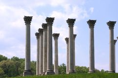 Columns Against Blue Sky