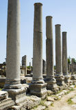 Columns of the Agora in Perga Stock Photography