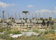 Columns of the Agora in Perga Royalty Free Stock Image