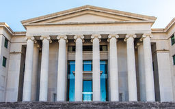 Columns of the Alabama Supreme Court. The entrance to the Supreme Court building at Montgomery Alabama royalty free stock photography