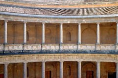 Columns in Alhambra, Granada, Royalty Free Stock Image