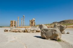 Columns of ancient city Royalty Free Stock Photo