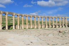 Columns at the ancient city of Jerash Stock Photography