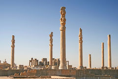 Columns of ancient city of Persepolis, Iran Royalty Free Stock Photo