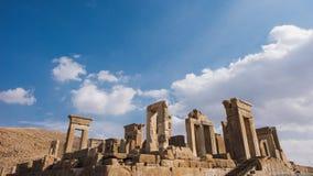 Columns of ancient city of Persepolis, Iran. Columns of ancient city of Persepolis Royalty Free Stock Photos