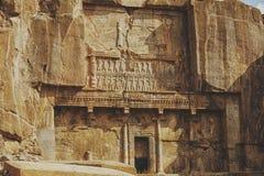 Columns of ancient city of Persepolis, Iran. Columns of ancient city of Persepolis Stock Images