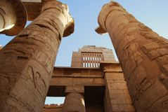 Columns from ancient Egypt royalty free stock photography