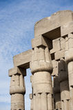 Columns at an ancient egyptian temple Stock Image