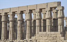 Columns in an ancient egyptian temple Stock Photo
