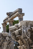 Columns in the ancient greek and later roman city of Ephesus Turkey Stock Image