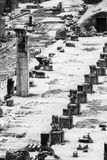 Columns of an ancient monument in the Roman Forum Royalty Free Stock Photography