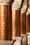 Columns in an ancient orthodox monastery Royalty Free Stock Photos