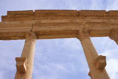 Columns in ancient Palmyra Royalty Free Stock Photo