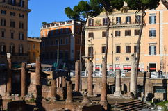 Columns in Ancient Rome Stock Image