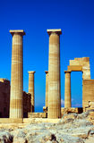 Columns ancient temple Royalty Free Stock Images