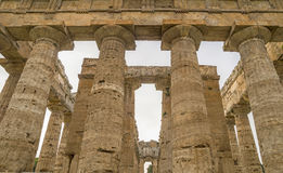 Columns of an Ancient Temple Stock Image