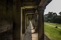 Columns in Angkor Wat, Cambodia Stock Images