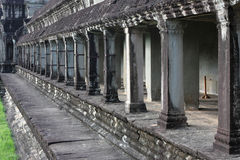 Columns in Angkor Wat Temple Stock Photos