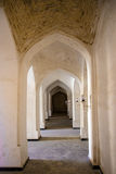 Columns arch corridor. Landmarks in Bukhara. Columns of ancient mosque. Landmarks in Bukhara, Uzbekistan, March 2016 Royalty Free Stock Photography