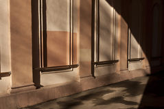 Columns and arch shadow. Stock Photography