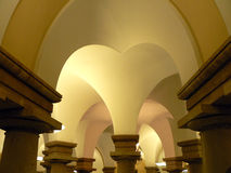 Columns Arched. Arched columns create an artistic heart pattern in this intriguing architectural photo Royalty Free Stock Photography