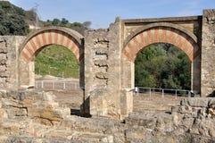 Medina Azahara. Cordoba, Spain. Columns and arches of Entrance Gates. Medina Azahara. Cordoba, Andalusia, Spain Stock Images