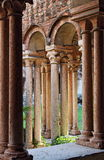 Columns and arches in the medieval cloister of Saint Zeno Stock Photo