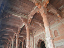 Columns and arches of mosque hall Stock Images