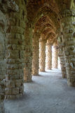 Columns and arches at park Guell, Barcelona, Spain Royalty Free Stock Photos