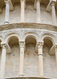 Columns and Arches on Tower in Pisa Stock Photo