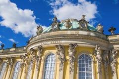 Columns and architecture enements of Sanssouci Palace Stock Image