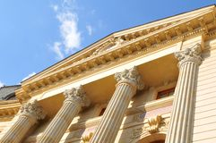 Columns. Architecture of old building with columns royalty free stock photo