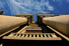 Columns of Architecture. Sky. Royalty Free Stock Images