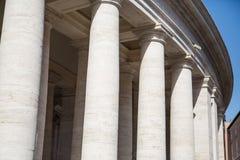 Columns Around Saint Peters Square Royalty Free Stock Photos