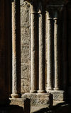 Columns. Arquitectural detail of  cloister. Tui cathedral. Spain Stock Photography