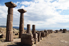 Columns in Assos Royalty Free Stock Photography