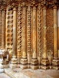 Columns At The Entrance Royalty Free Stock Image