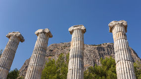 Columns in Athena temple Stock Photography