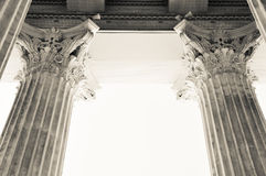 Columns in Athens, Greece. Architectural detail of Corinthian columns in Athens, Greece Royalty Free Stock Images