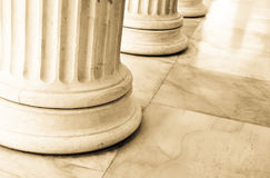 Columns in Athens, Greece. Architectural detail of Corinthian columns in Athens, Greece Royalty Free Stock Photos