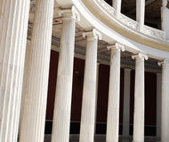 Columns in Athens, Greece. Architectural detail of Corinthian columns in Athens, Greece Stock Photo