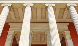 Columns in Athens, Greece. Architectural detail of Corinthian columns in Athens, Greece Stock Photography